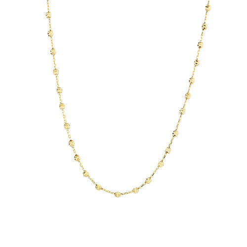 """45cm (18"""") Beaded Chain in 10ct yellow Gold"""
