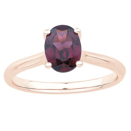 Ring with Rhodolite Garnet in 10ct Rose Gold