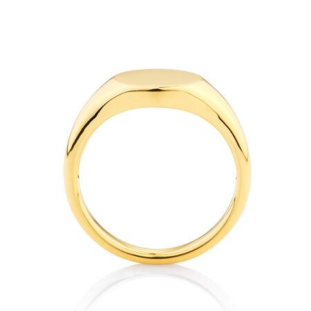 Circle Signet Ring in 10ct Yellow Gold