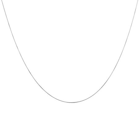 """45cm (18"""") Snake Chain in 10ct White Gold"""
