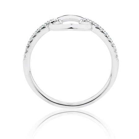 Circle Ring with 0.12 Carat TW of Diamonds in Sterling Silver