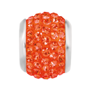 Orange Crystal Charm