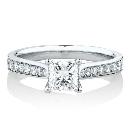 Solitaire Engagement Ring With 1 1/4 Carat TW of Diamonds In 14ct White Gold
