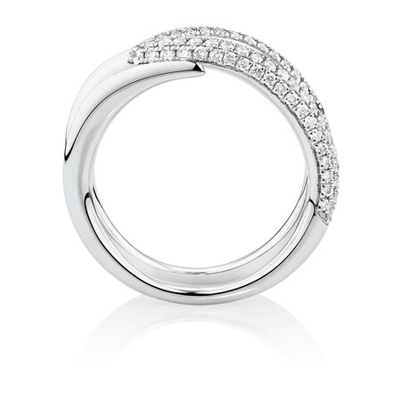 Mark Hill Ring with 0.72 Carat TW of Diamonds in 10ct White Gold