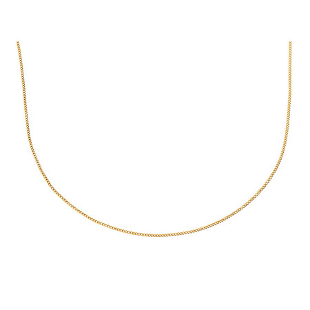 """40cm (16"""") Curb Chain in 10ct Yellow Gold"""