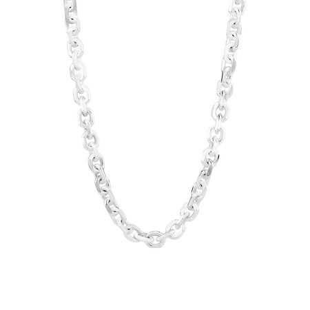 55cm Tight Belcher Necklace in Sterling Silver