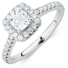 Sir Michael Hill Designer GrandAllegro Engagement Ring with 1.64 Carat TW of Diamonds in 14ct White Gold