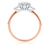 Evermore Engagement Ring with 0.50 Carat TW of Diamonds in 10ct Rose & White Gold