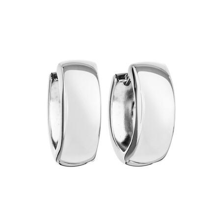 Huggie Earrings in 10ct White Gold