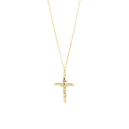 Crucifix Cross Pendant in 10ct Yellow Gold