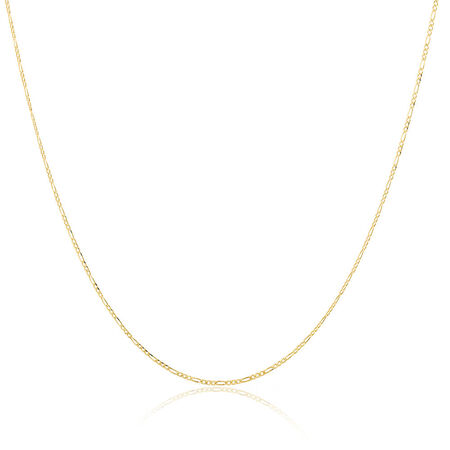 Solid Figaro Chain in 10ct Yellow Gold