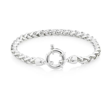 19cm Wheat Chain Bracelet in Sterling Silver
