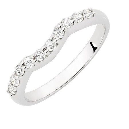 Evermore Wedding Band with 1/4 Carat TW of Diamonds in 18ct White Gold