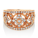 Ring with 1 Carat TW of Diamonds in 10ct Rose Gold