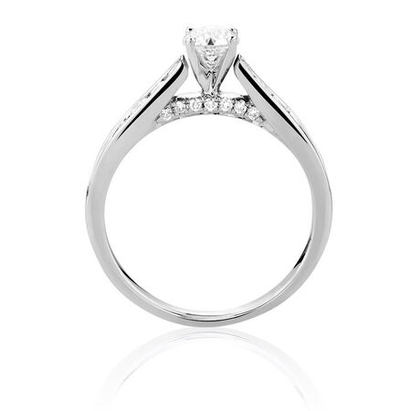Online Exclusive - Engagement Ring with 1.11 Carat TW of Diamonds in 14ct White Gold