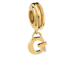 Diamond Set & 10ct Yellow Gold 'G' Charm