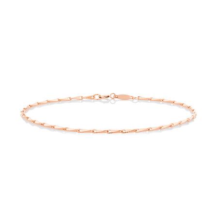 Infinity Bracelet in 10ct Rose Gold
