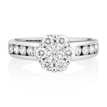 Online Exclusive - Engagement Ring with 1 Carat TW of Diamonds in 18ct White Gold
