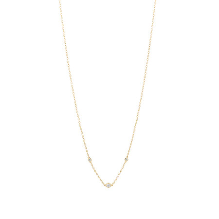 Necklace with Diamonds in 10ct Yellow Gold