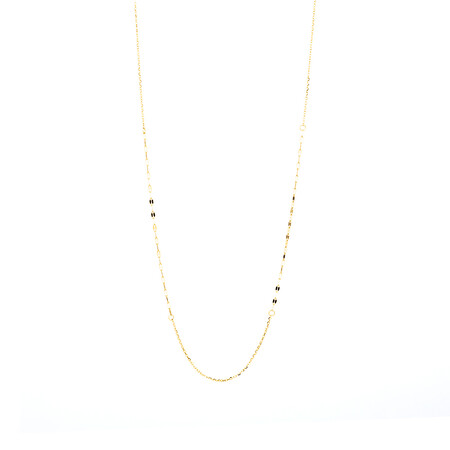 """45cm (18"""") Mirror Chain in 10ct Yellow Gold"""