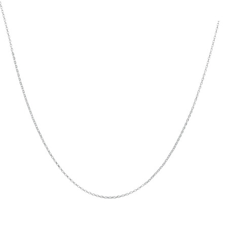 "40cm (16"") Belcher Chain in 10ct White Gold"