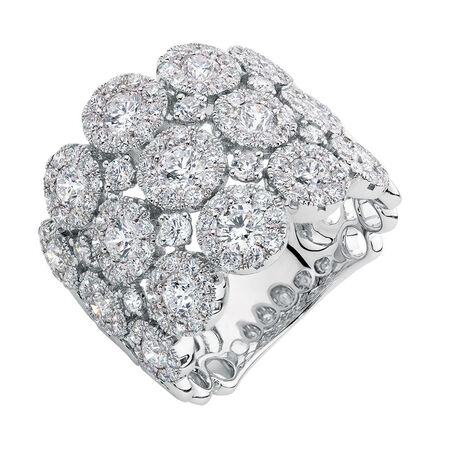 Ring with 2.97 Carat TW of Diamonds in 14ct White Gold