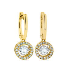 Everlight Earrings with 1/2 Carat TW of Diamonds in 10ct Yellow Gold