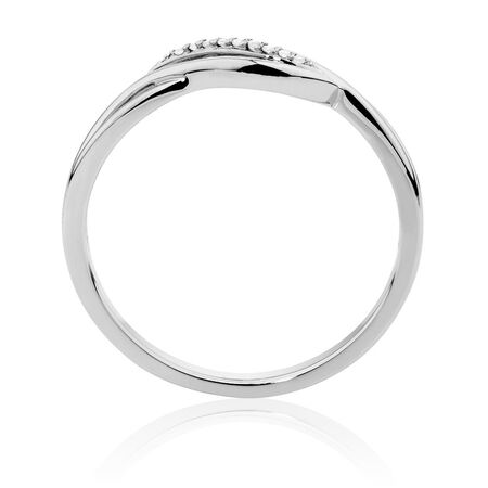 Ring with Diamonds in 10ct White Gold