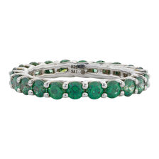 Online Exclusive - Ring with Green Cubic Zirconia in Sterling Silver