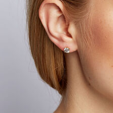 Classic Stud Earrings with 1.46 Carat TW of Diamonds in 14ct Yellow Gold