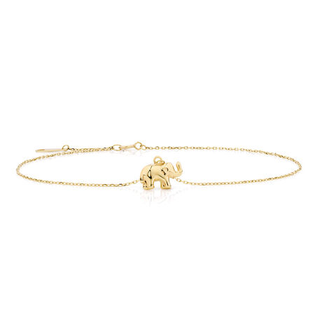 "27cm (11"") Anklet in 10ct Yellow Gold"