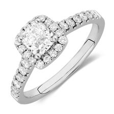 Online Exclusive - Engagement Ring with 1.20 Carat TW of Diamonds in 14ct White Gold