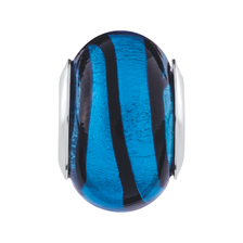 Blue & Black Murano Glass Charm