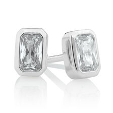 37d23c5a6 Stud Earrings with Cubic Zirconia in Sterling Silver