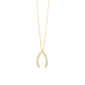 Mark Hill Wisbone Necklace with 0.08 Carat TW of Diamonds in 10ct Yellow Gold