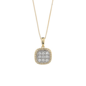 Pendant with 1/4 Carat TW of Diamonds in 10ct Yellow Gold