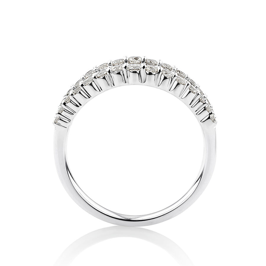 Ring with Sapphire & 0.59 Carat TW of Diamonds in 10ct White Gold