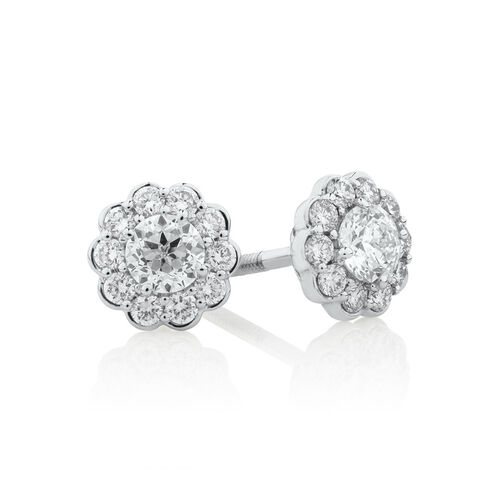 Southern Star Stud Earrings with 1/2 Carat TW of Diamonds in 14ct White Gold