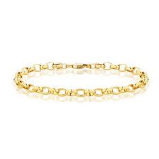 """19cm (7.5"""") Oval Belcher Bracelet in 10ct Yellow Gold"""