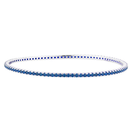 Online Exclusive - Bangle with Blue Cubic Zirconia in Sterling Silver