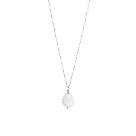 Pendant with Cultured Freshwater Pearl in Sterling Silver