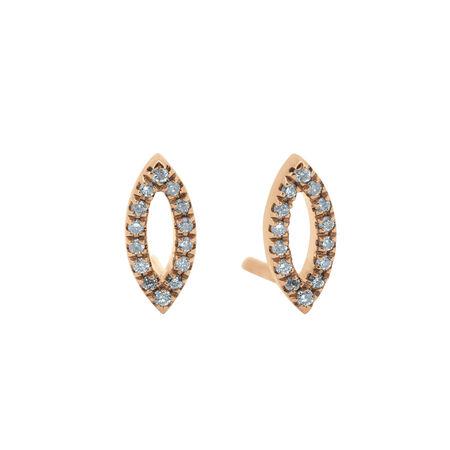 Diamond Earrings in 10ct Rose Gold