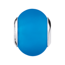 Bright Blue Matte Murano Glass Charm