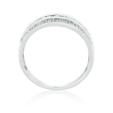 Ring with 0.34 Carat TW of Diamonds in 10ct White Gold