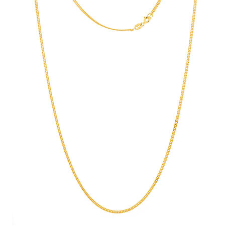 """50cm (20"""") Double Curb Chain in 10ct Yellow Gold"""