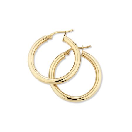 25mm Hoop Earrings in 10ct Yellow Gold