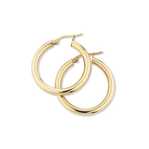 25mm Hoop Earrings in 10ct Yellow Gold