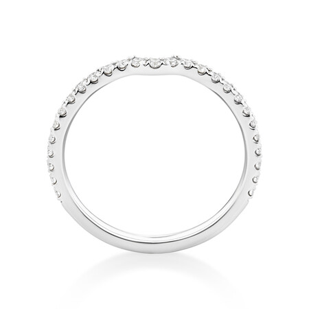 Sir Michael Hill Designer Wedding Band with 0.27 Carat TW of Diamonds in 18ct White Gold