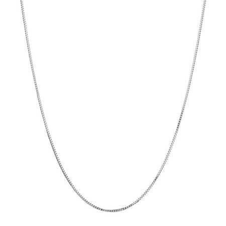 "50cm (20"") Box Chain in 18ct White Gold"