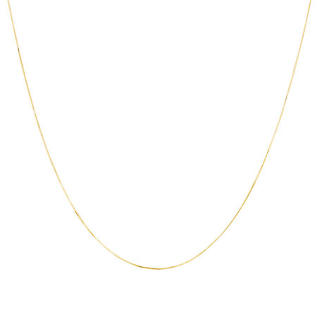 """50cm (20"""") Snake Chain in 10ct Yellow Gold"""